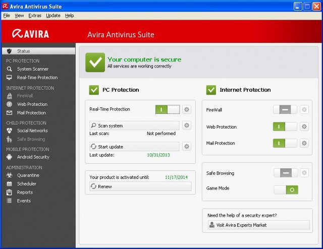 Avira Antivirus Pro 2017 Offline Installer Download