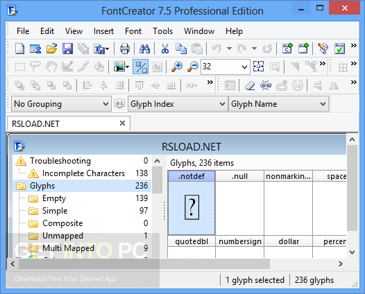 FontCreator Professional 11.5.0.2421 Direct Link Download