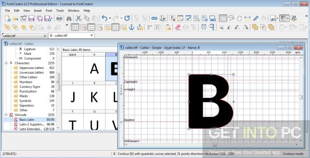 FontCreator Professional 11.5.0.2421 Latest Version Download