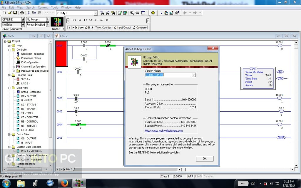 Allen Bradley RSLogix5 v8.0 Offline Installer Download