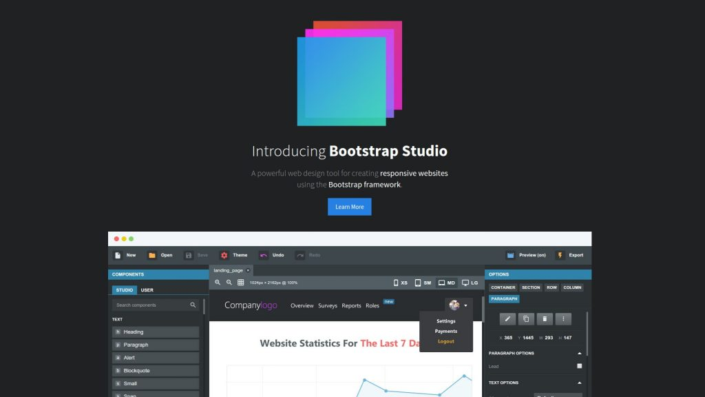 Bootstrap Studio 4.1.7 Pro Latest Version Download