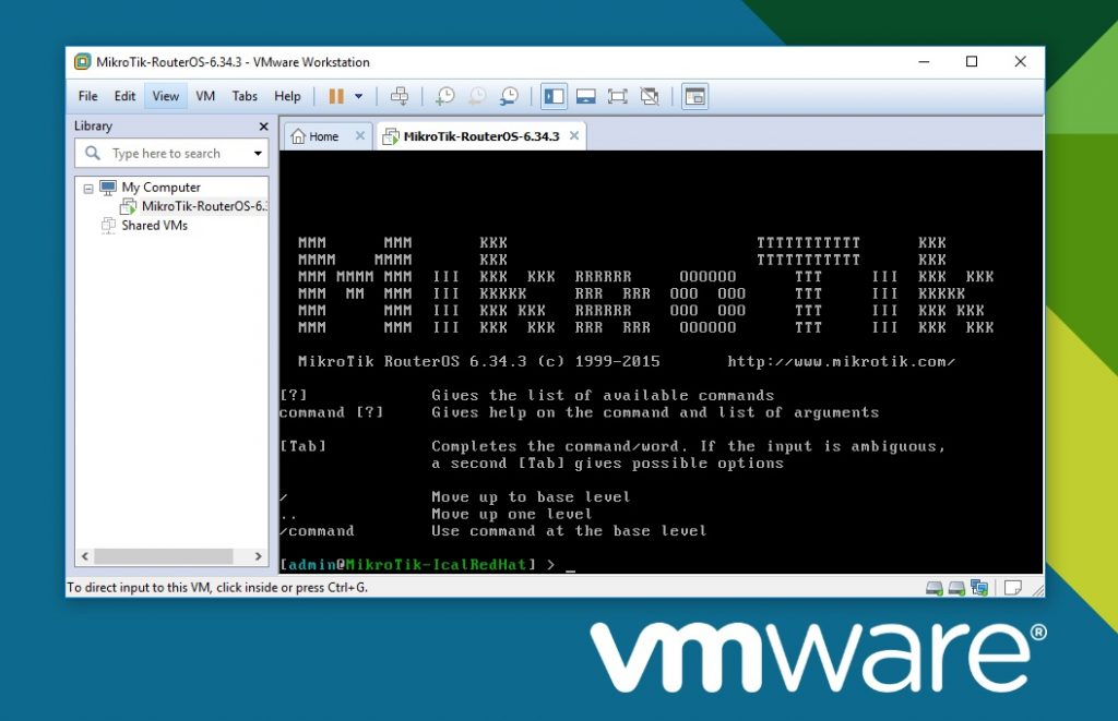 Mikrotik RouterOS 6.40.5 Level 6 for VMware Offline Installer Download