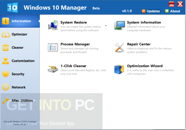 Yamicsoft Windows 10 Manager + Portable Direct Link Download