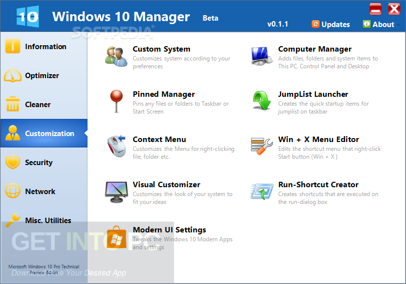Yamicsoft Windows 10 Manager + Portable Latest Version Download