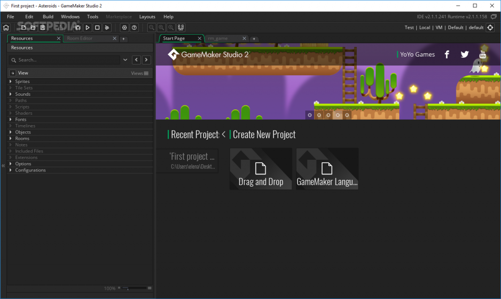 Game Maker Studio Ultimate 2.1.5.322 Offline Installer Download