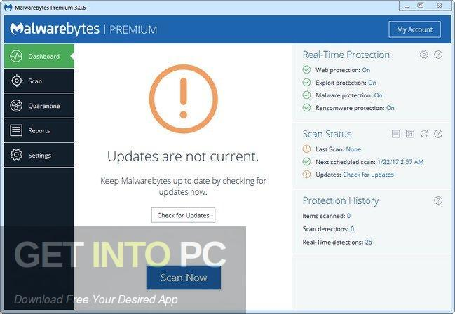 Malwarebytes Premium 3 5 1 2522 Free Download
