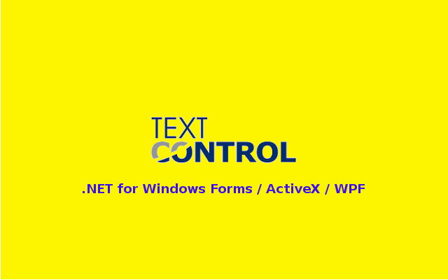 Download TX Text Control .NET for Windows Forms / ActiveX / WPF