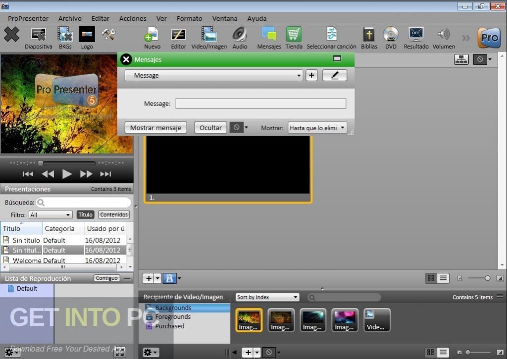ProPresenter 6.0.3.8 Latest Version Download-GetintoPC.com