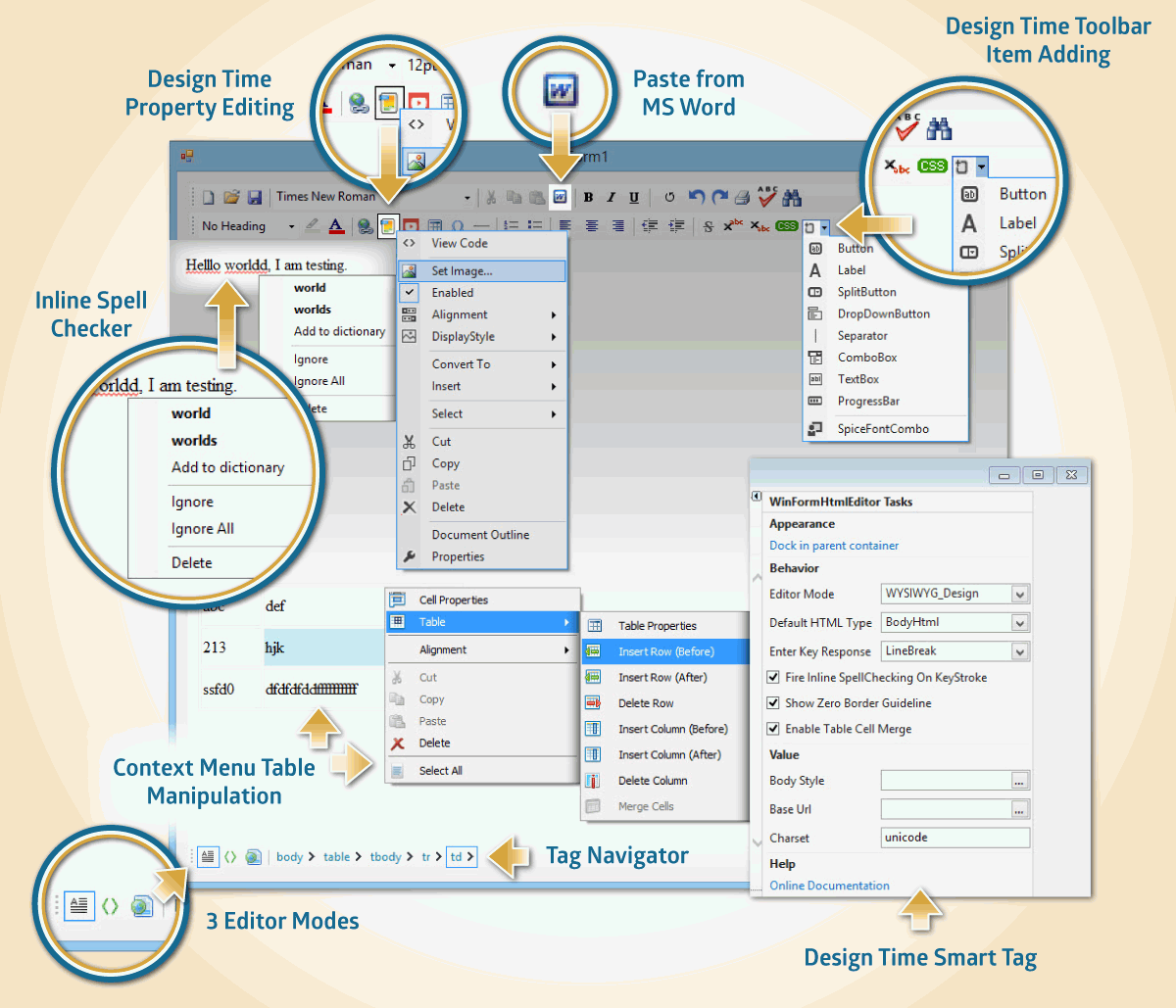 Spicelogic .NET WinForms HTML Editor Control 7.4.11.0 Direct Link Download