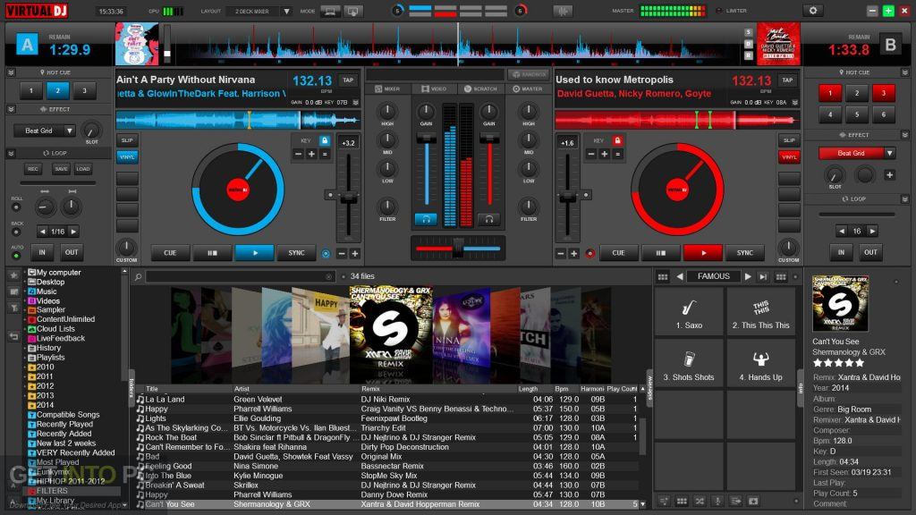 Virtual DJ PRO 8 Latest Version Download-GetintoPC.com