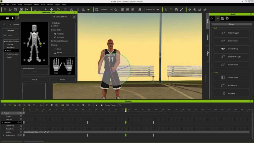 iClone Mocap Plug-in for Kinect Motion Capture Direct Link Download