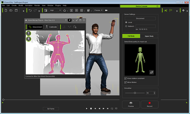 iClone Mocap Plug-in for Kinect Motion Capture Offline Installer Download