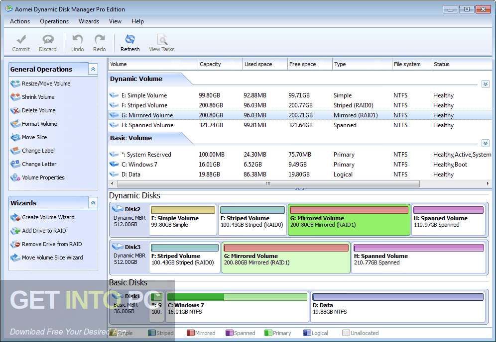AOMEI Dynamic Disk Manager Pro Latest Version Download-GetintoPC.com