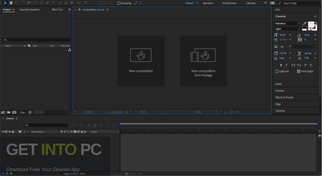 Adobe After Effects CC 2018 Portable Offline Installer Download-GetintoPC.com