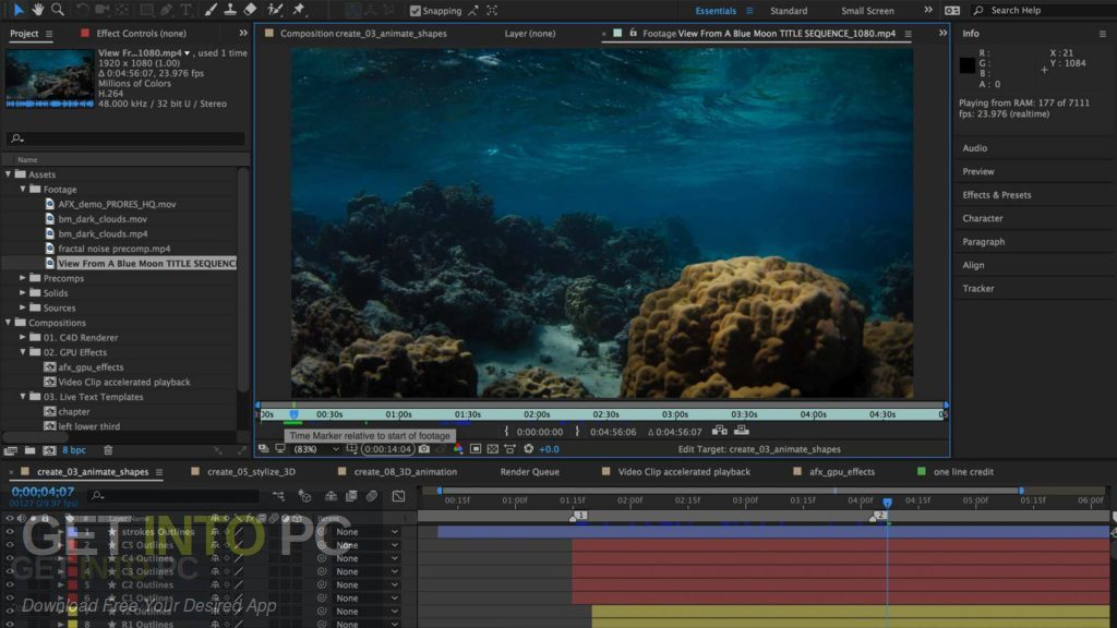 Adobe After Effects CC 2018 v15.1 Latest Version Download-GetintoPC.com