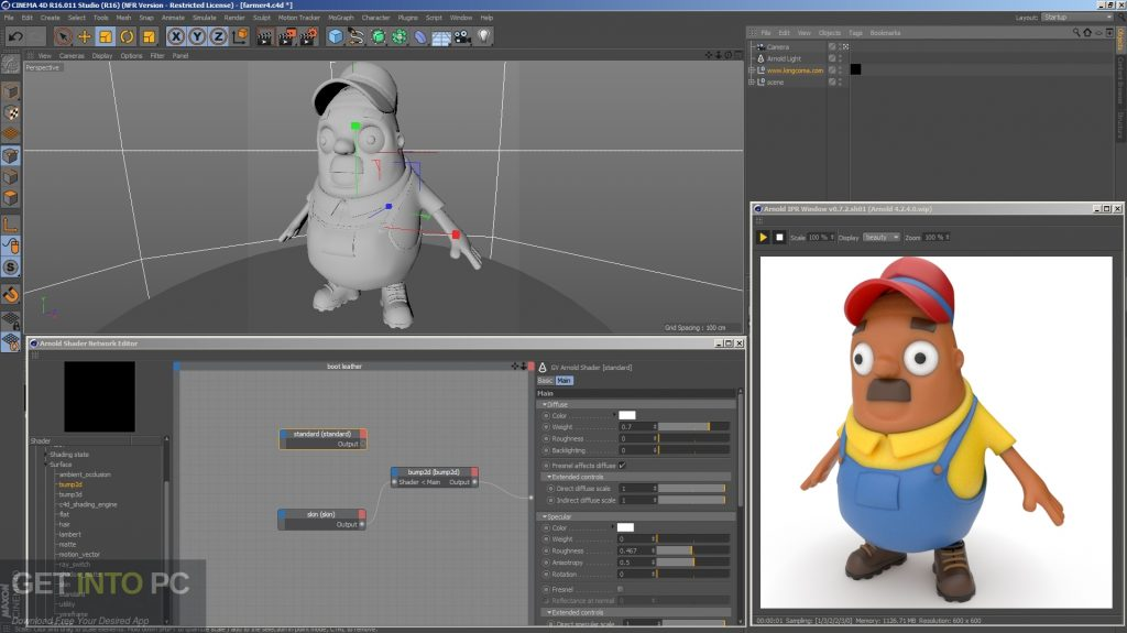 Arnold for Cinema 4D Offline Installer Download-GetintoPC.com