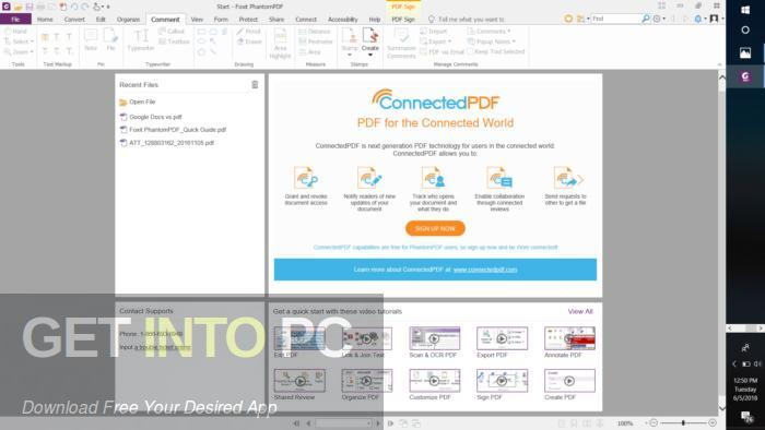 Foxit PhantomPDF Business 9 Direct Link Download-GetintoPC.com
