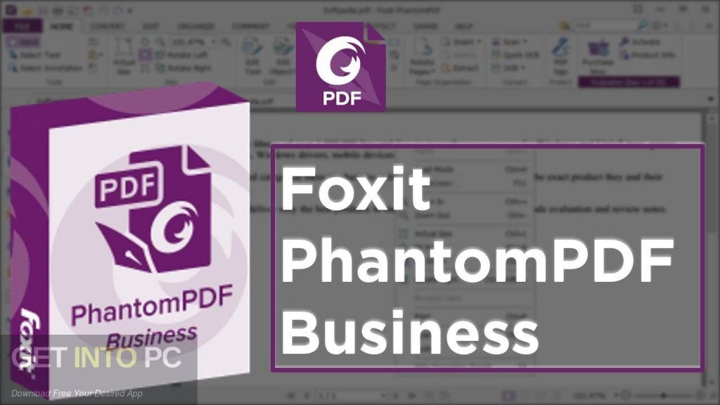 Foxit PhantomPDF Business 9 Free Download-GetintoPC.com