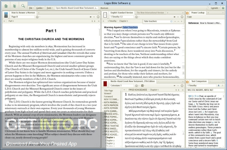 Logos Bible Software 4 Platinum Free Download