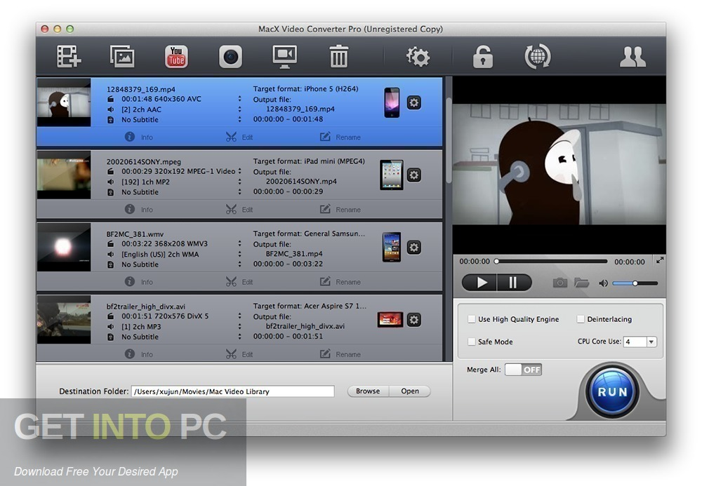 MacX HD Video Converter Pro Offline Installer Download-GetintoPC.com