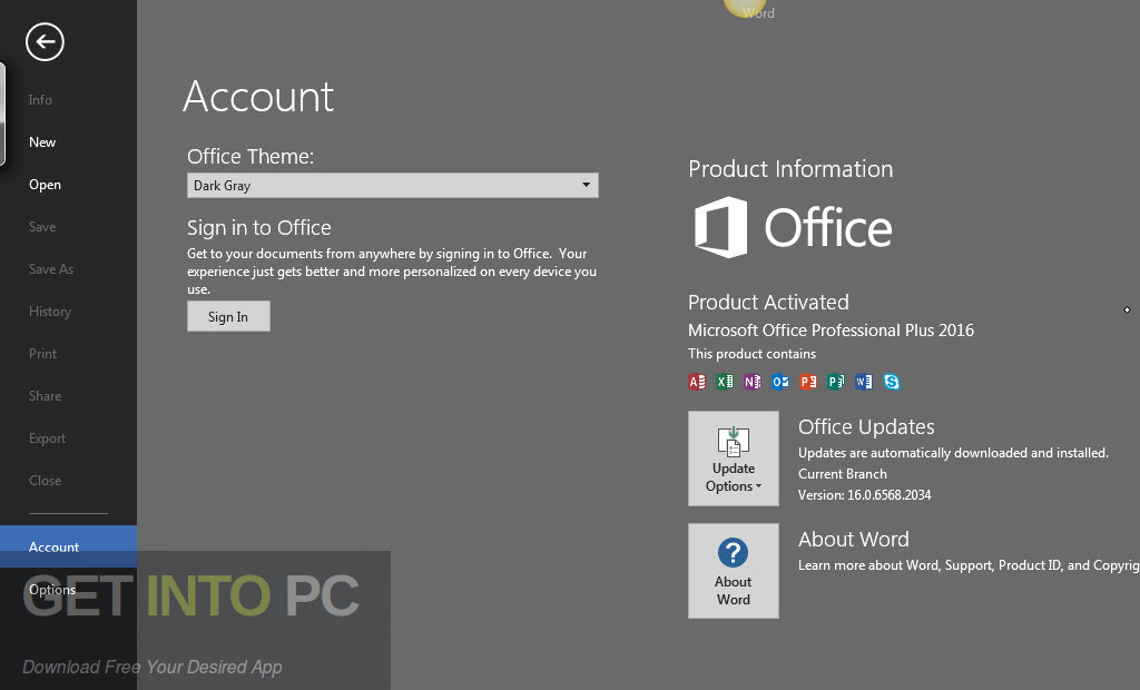 Office 2016 Professional Plus v16.0.4738.1000 Sep 2018 Direct Link Download-GetintoPC.com