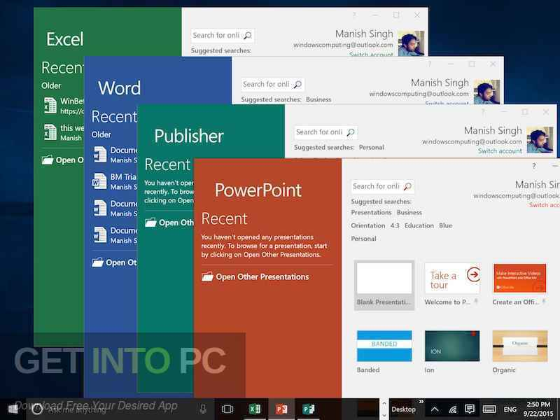 Office 2016 Professional Plus v16.0.4738.1000 Sep 2018 Latest Version Download-GetintoPC.com