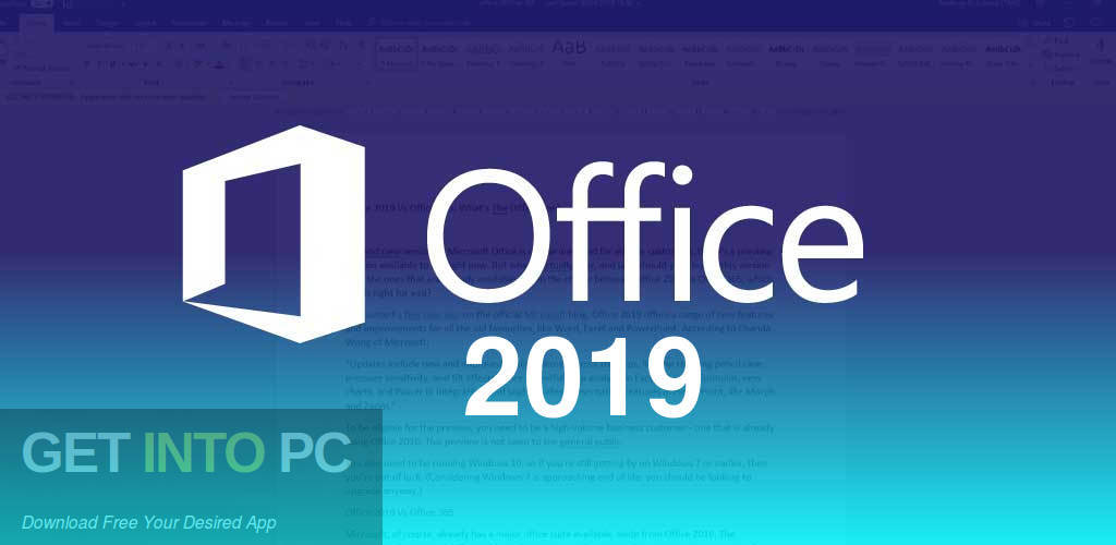 Office 2019 Pro Plus Free Download-GetintoPC.com