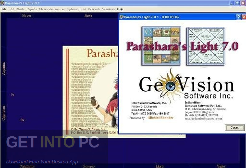 Parashara's Light Professional 7.0.1 Vedic Astrology Direct Link Download-GetintoPC.com