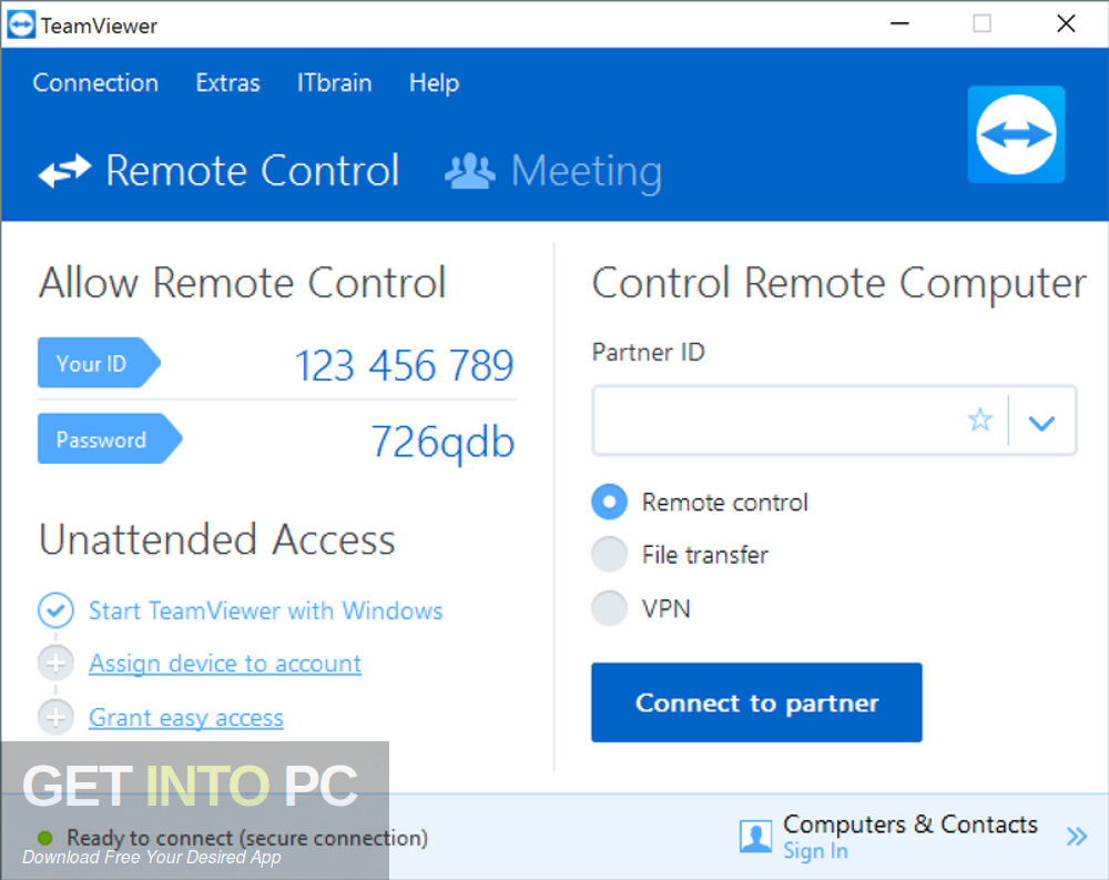 TeamViewer All Editions 13.0.6447 Offline Installer Download-GetintoPC.com