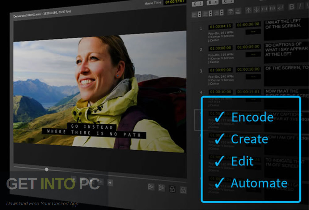Telestream CaptionMaker Enterprise 6.2.1 Direct Link Download-GetintoPC.com
