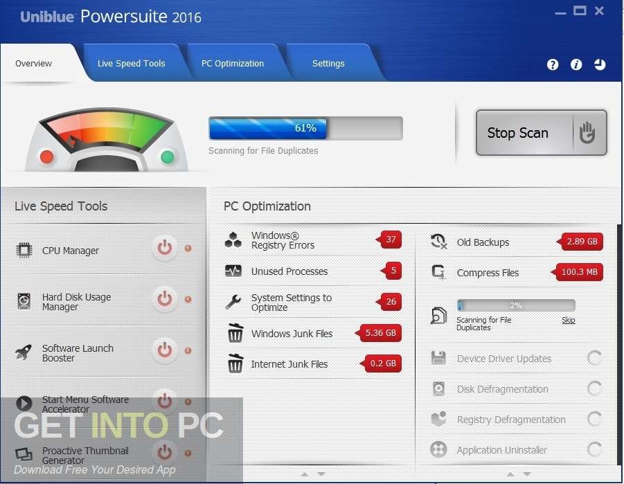 Uniblue PowerSuite 2016 4.4.2.0 Direct Link Download-GetintoPC.com