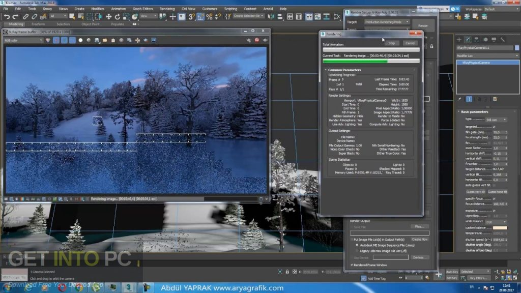V-Ray for 3D Max 2018 Latest Version Download-GetintoPC.com