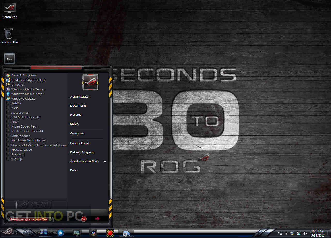 Windows 7 ROG RAMPAGE 64 bit ISO Offline Installer Download-GetintoPC.com