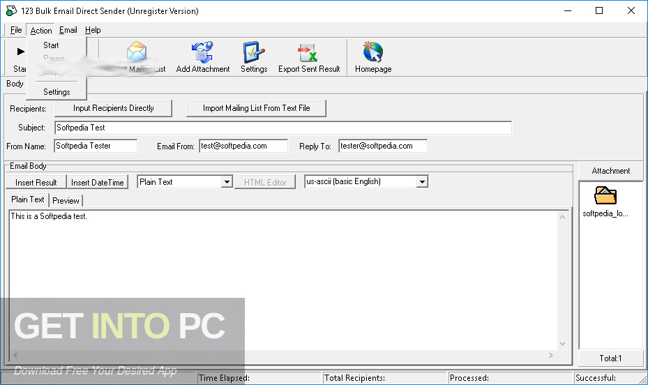 123 Bulk Email Direct Sender Offline Installer Download-GetintoPC.com