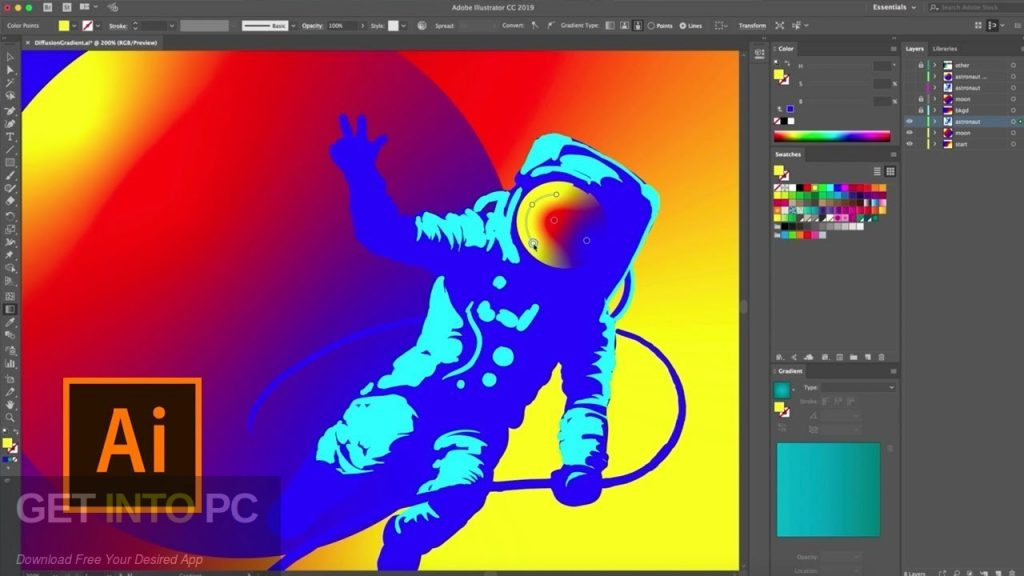 Adobe Illustrator CC 2019 Direct Link Download-GetintoPC.com
