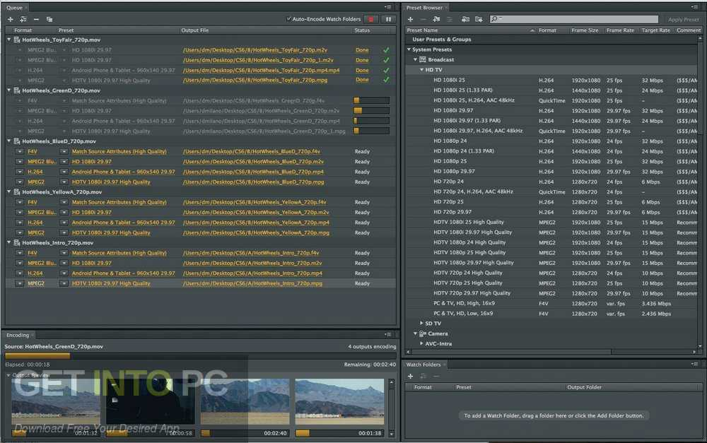 Adobe Media Encoder CC 2019 Latest Version Download-GetintoPC.com