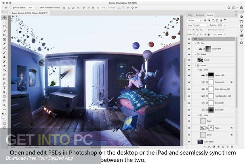 Adobe Photoshop CC 2019 Offline Installer Download-GetintoPC.com