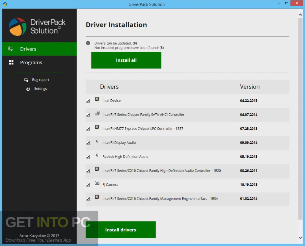 DriverPack Solution Full Offline 2018 Direct Link Download-GetintoPC.com