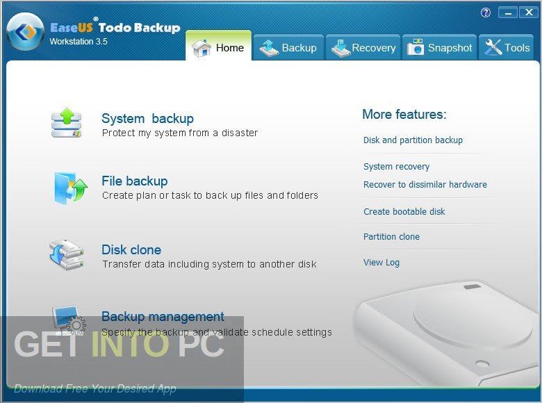 EaseUS Todo Backup Technician 2018 Latest Version Download-GetintoPC.com