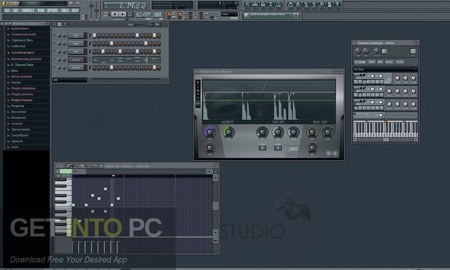 FL Studio XXL Producer Edition v8.0.2 + Autotune v5 Latest Version Download-GetintoPC.com