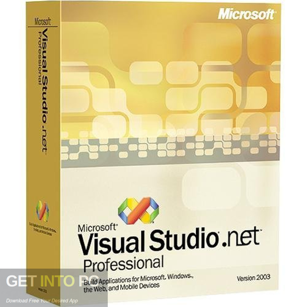 Microsoft Visual Studio .NET 2002 Free Download-GetintoPC.com