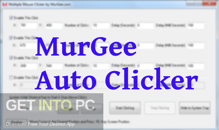 MurGee Auto Clicker Free Download-GetintoPC.com