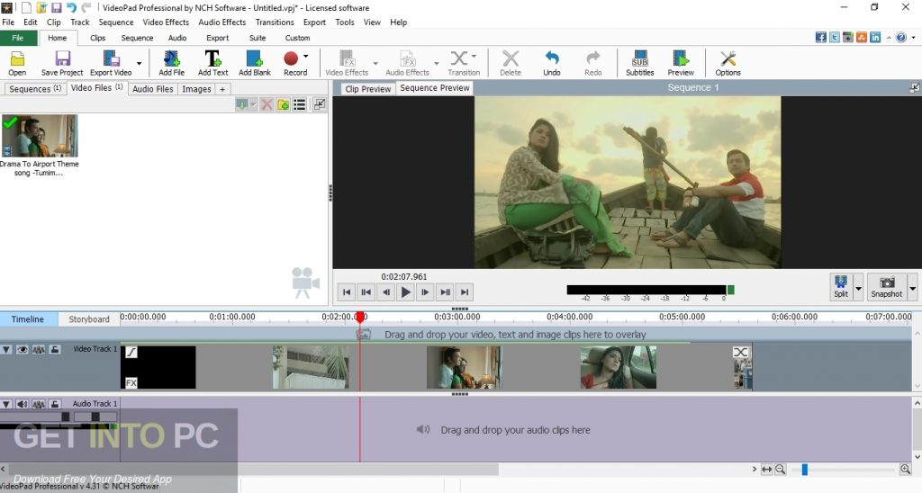 NCH VideoPad Video Editor Professional Direct Link Download-GetintoPC.com