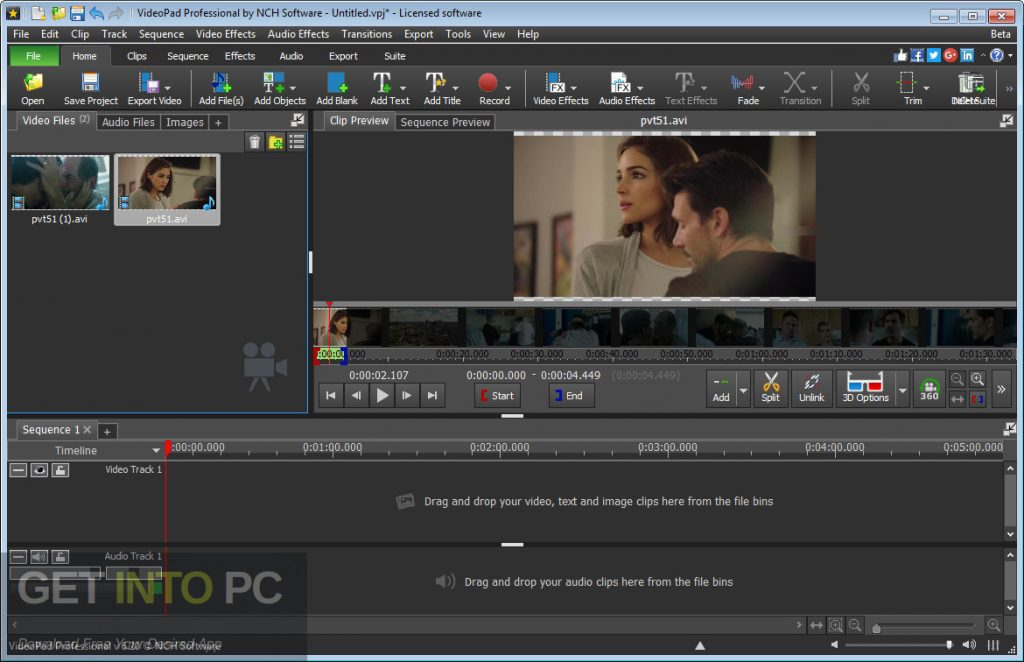 NCH VideoPad Video Editor Professional Latest Version Download-GetintoPC.com