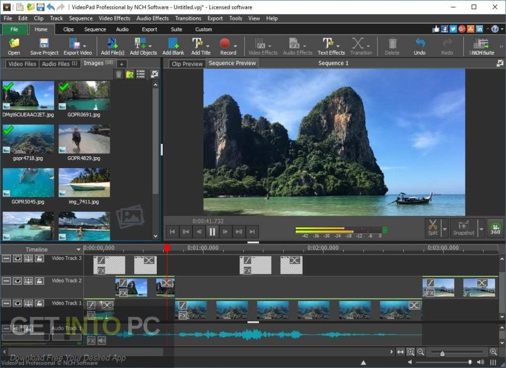 NCH VideoPad Video Editor Professional Offline Installer Download-GetintoPC.com