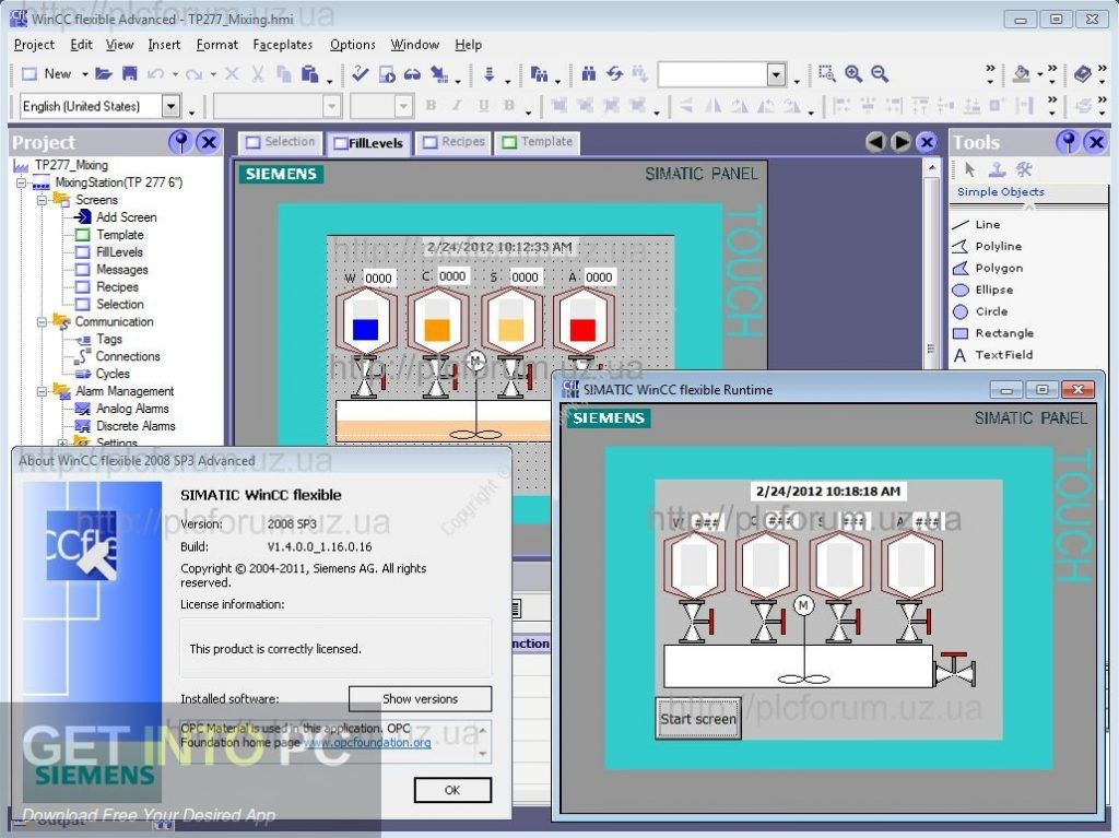 Siemens SIMATIC WinCC Flexible 2008 SP5 Latest Version Download-GetintoPC.com