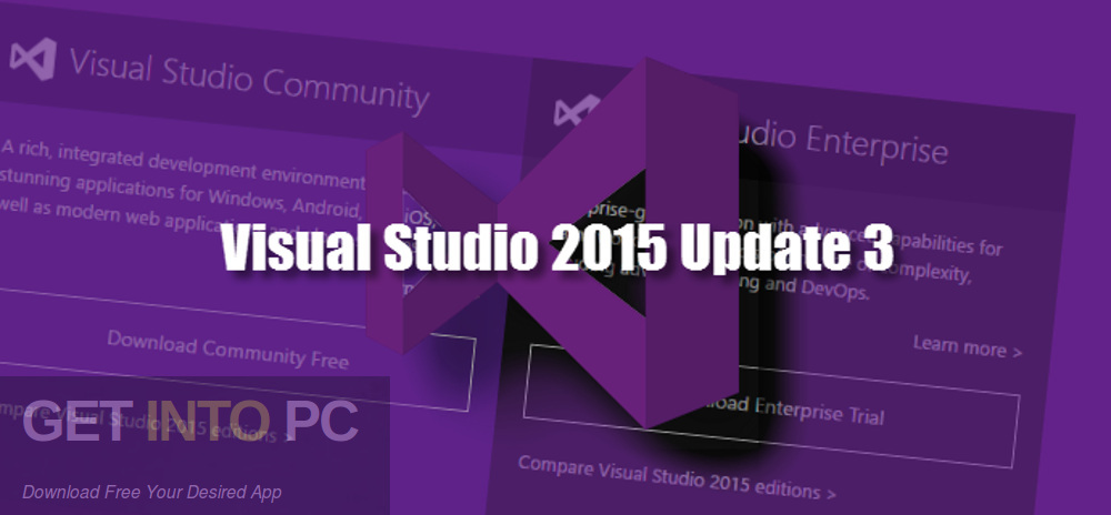 Visual Studio 2015 Update 3 ISO Free Download-GetintoPC.com