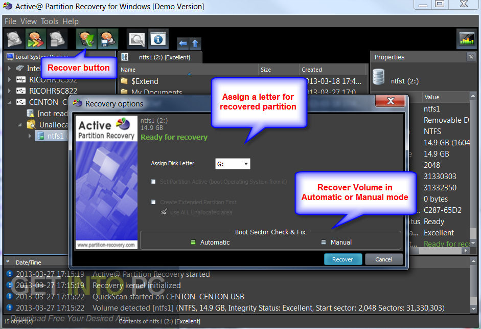 Active Partition Recovery Ultimate 2018 Direct Link Download-GetintoPC.com