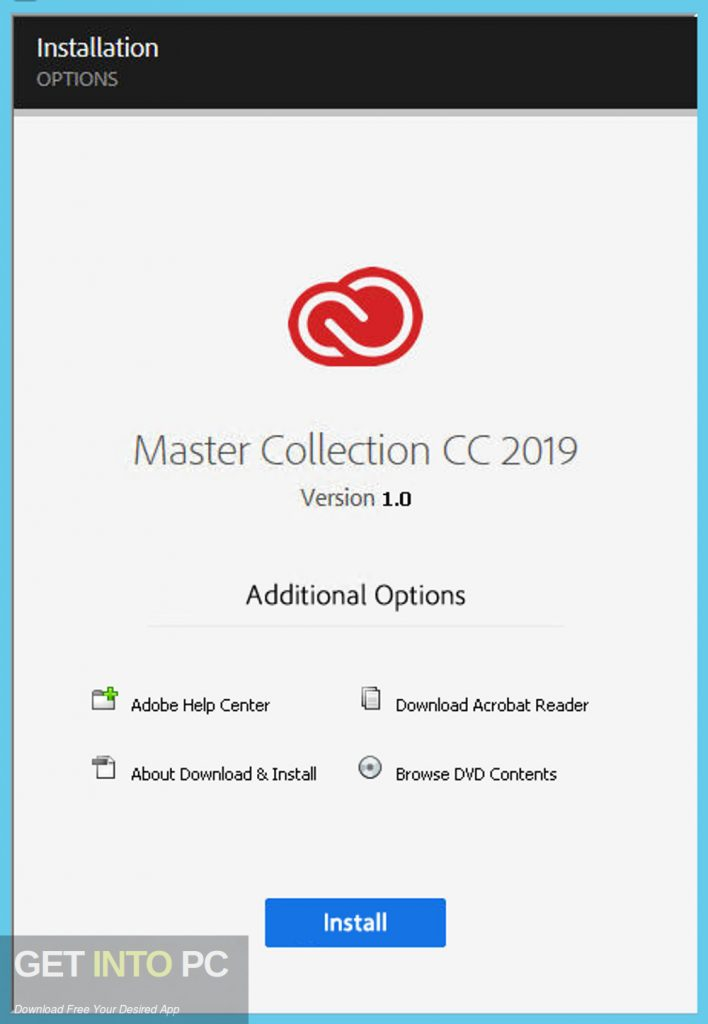 Adobe Master Collection CC 2019 Direct Link Download-GetintoPC.com