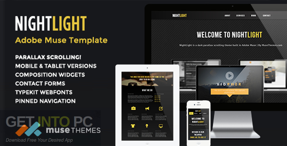 Adobe Muse Theme and Widget Free Download